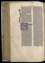 Historiated Initial With Job On The Dunghill, In A Bible